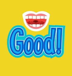 good sticker chat message label icon colorful vector image