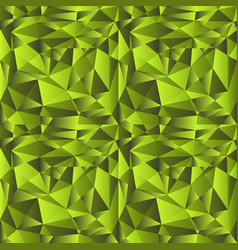 Green gradient low poly background vector