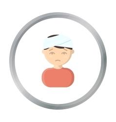 Head injury icon cartoon Single sick icon from vector image vector image