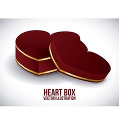 heart box vector image vector image