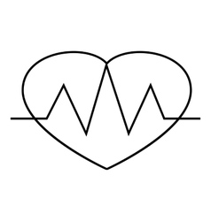 Heartbeat icon outline style vector