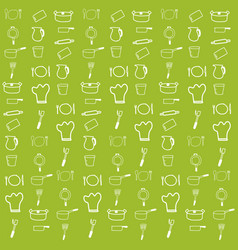 kitchenware pattern vector image vector image