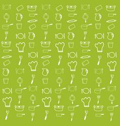 Kitchenware pattern vector