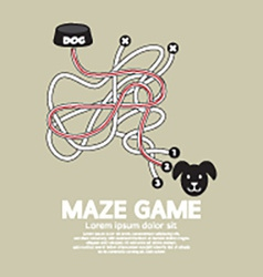 Maze Game With Dog And Bowl vector image