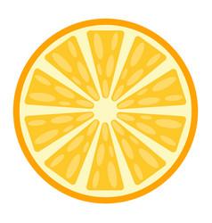 Orange flat icon fruit and vitamin vector