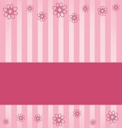 Pink background flowers vector