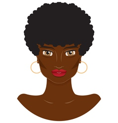 Portrait of a beautiful african-american women vector