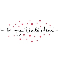 Romantic valentines day lettering vector