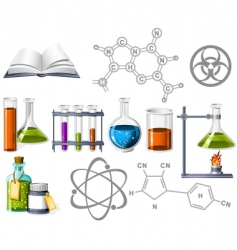 science and chemistry icons vector image