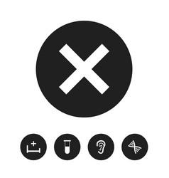 Set of 5 editable health icons includes symbols vector
