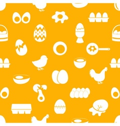 set of egg theme icons seamless pattern eps10 vector image vector image