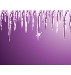 shiny icicles vector image
