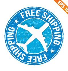 Stamp sticker Free shipping collection - - vector image