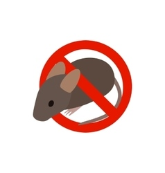 Warning sign with mouse icon isometric 3d style vector
