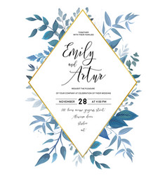 wedding invite save the date card design vector image