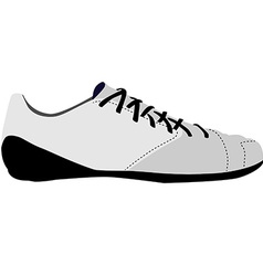 White sport shoe vector image vector image