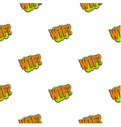 wtf comic text sound effect pattern seamless vector image vector image