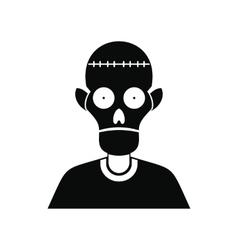 Zombie icon black vector image