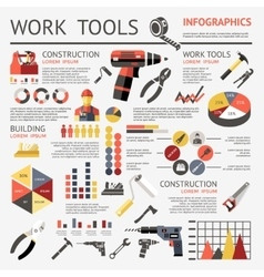 Work tools infographic vector