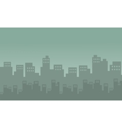 Silhouete of city many building vector