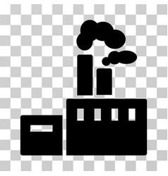smoking factory icon vector image