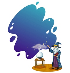 Crystal ball wizard vector