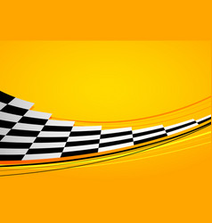 yellow racing background vector image