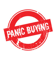 panic buying rubber stamp vector image