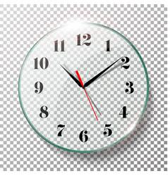 realistic wall clocks set vector image