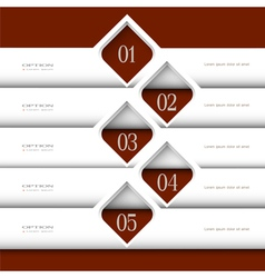 3d modern white design template vector