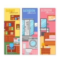 Room furniture banner set vector