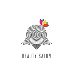 Hairdressing salon logo silhouette abstract face vector