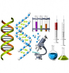 Science and genetics icons vector