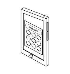 Cellphone with password vector
