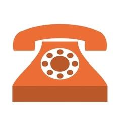 Retro phone isolated icon design vector