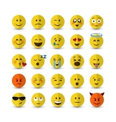 Emoji set vector