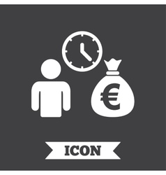 Bank loans sign icon get money fast symbol vector