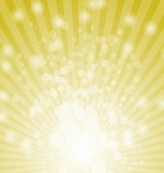 Abstract bokeh on yellow background vector