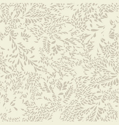 abstract floral pattern leaves seamless texture vector image vector image
