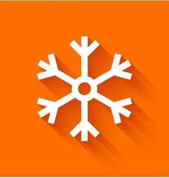 Abstract snowflake on orange background vector image