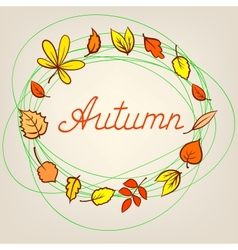 Autumn abstract background with circle from vector image vector image