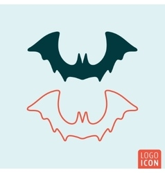 Bat halloween icon vector