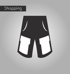 Black and white style icon men shorts vector