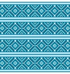 Blue christmas seamless pattern vector