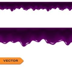 Blueberry Jam Drips Seamless Border vector image