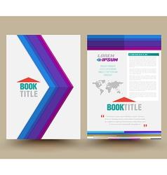Brochure design template flyer layout magazine cov vector
