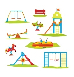 Children playground colourful vector