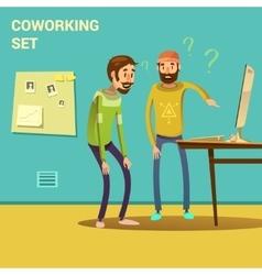 Coworking set vector