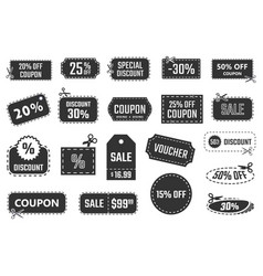 discount coupons sale banners special offer vector image vector image