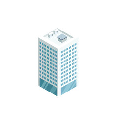 downtown skyscraper 3d isometric icon vector image